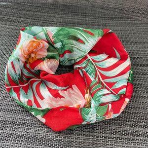 🌸3/$15🌸 Silk Satin Huge Hair Scrunchie Tropical